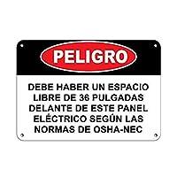 危険電気パネルOSHAの前に36インチの空きスペース 金属板ブリキ看板警告サイン注意サイン表示パネル情報サイン金属安全サイン