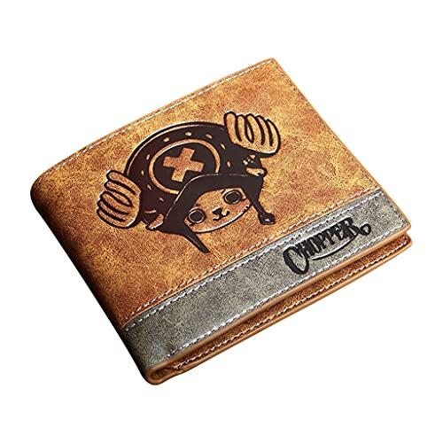 Carteira de peça única Luffy Chapéu de palha Piratas Porta-cartão Carteira Anime Mudança Bolsas para Homens e Mulheres Adolescentes Estudantes, qiaoba
