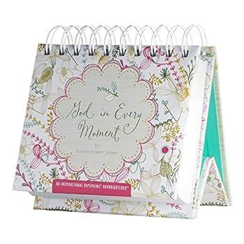 DaySpring Flip Calendar - God in Every Moment - 80299 White 5 1/2  x 5 1/4  x 1 1/2