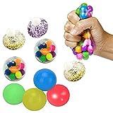 9PCS Juguete antiestrés Sticky Globbles Ball,Squish Stress Balls,Juguetes de Descompresión de Bolas Adhesivas de Frutas,Aliviar Estrés y Ansiedad para Niños y Adultos