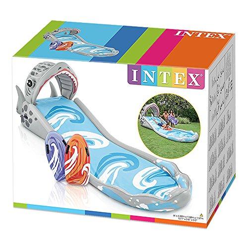 Intex 57159NP - Centro juegos Tobogán hinchable Tiburón 460 x 168 ...