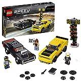 LEGO 75893 SpeedChampions DodgeChallengerSRTDemonde2018yDodgeChargerR/Tde1970, Juguete de Construcción