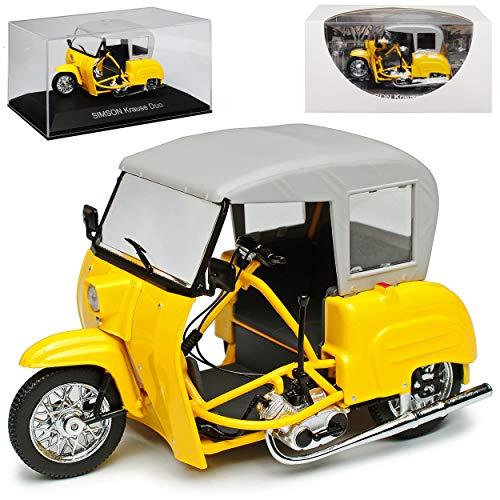 Simson Krause Duo Gold Gelb 1961-1991 DDR 1/24 Ixo Modell Motorrad