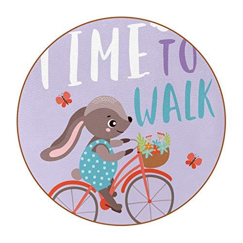 Juego de 6 posavasos de bebidas divertidas, varios estilos, adecuado para vasos de cerveza, vasos de café, tazas diarias, divertido conejo paseo en bicicleta