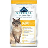 Blue Buffalo Natural Veterinary Diet K+M Kidney + Mobility Support Dry Cat Food,...
