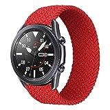iBazal 22mm Correa Galaxy Watch 46mm Pulsera Nylon Banda Trenzada Lazo Individual Repuesto para Samsung Galaxy Watch 3 45mm/Gear S3 Frontier Classic, Huawei Watch GT/GT 2 46mm - S Rojo