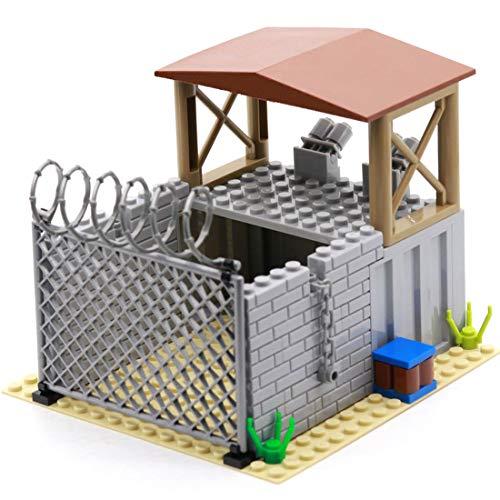Yayun Militär Szene Baustein Spielzeug WW2 Architektur Szene SWAT Police Gebäude Kompatibel mit Lego Mini Figuren