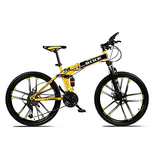 Novokart-Sport Pieghevole/Mountain Bike 24 Pollici 10 taglierina, Giallo