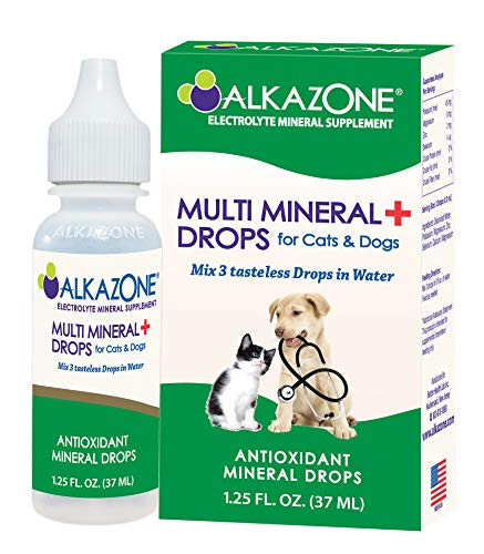 Alkazone Alkaline Multi Mineral Drops for Cats and Dogs | Mineral Rich Alkaline Drops | Tasteless & Flavorless | 1 Pack Yields 10 Gallons | Serving Size 3 Drops | 120 Serving (1 Pack)