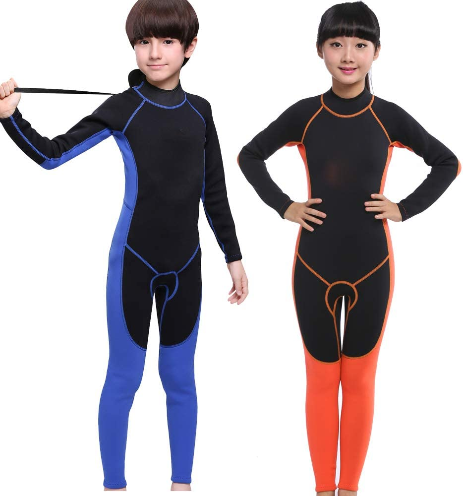 MYLEDI 2mm Neoprene Kids One Piece Swimming and Diving Full Suit,Boys Girls Wetsuit
