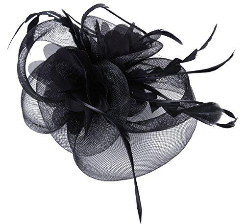 Fascigirl Fascigirl Fascinator Haar Clip Haar Accessoire Tea Party Hochzeitskirche Kopfbedeckung für Frauen