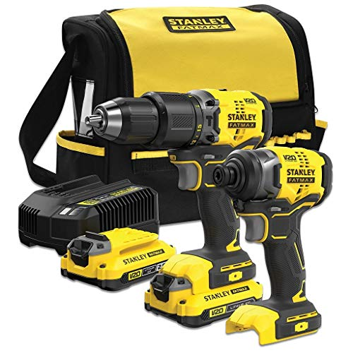 Stanley Combo V20 - Trapano avvitatore a percussione BRUSHLESS SFMCK461D2S-QW