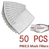 wyzesi papel de filtro de carbón activado reemplazable, con 5 capas precisas, filtro de papel, Cartuchos y filtros para respiradores,filtro protector bucal para exteriores,4.72''x3.15'' (50 Piezas)