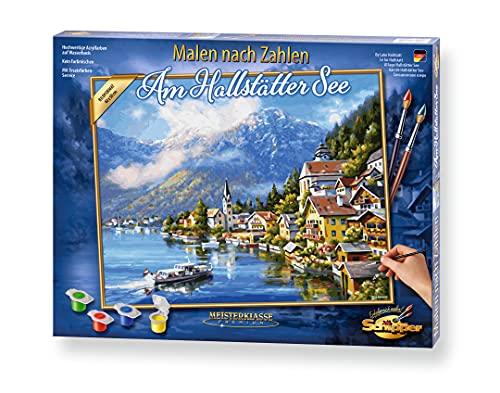 Schipper 609130802 Malen nach Zahlen, Am Hallstätter See Bilder malen für Erwachsene, inklusive Pinsel und Acrylfarben, 40 x 50 cm