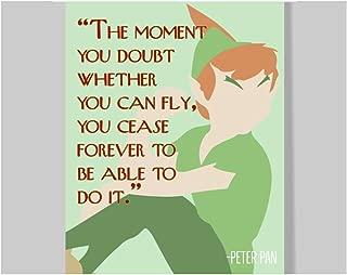 Peter Pan Quote Poster – 16 x 20 – Motivational – Inspirational – Growth Mindset – Classroom Decor – Disney School – Kid's Room – Teen Room – Nursery Wall Art