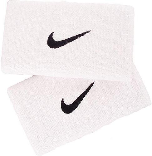 Nike Swoosh Double Wide Wristbands weiss