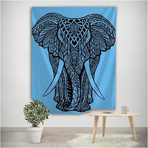 Mandala Elefant Totem Indische Wandhalterung Böhmische Zigeuner Psychedelische Tapis Hexerei Wandteppich Hängendes Tuch A2 180x230cm