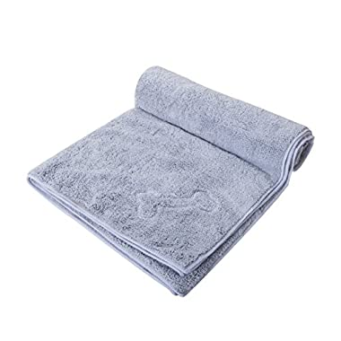 SOFTOWN Microfiber Pet Bath Towel Fast Drying for Dogs and Cats, 28 x 56 inch, Grey