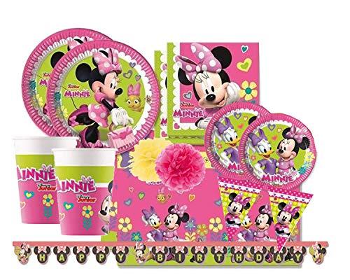 ipt Kit Coordinato Compleanno Minnie, Uno dei Personaggi Disney più Famosi in assoluto n.66. Insieme a Topolino ha Fatto Compagnia a Milioni di Bambini