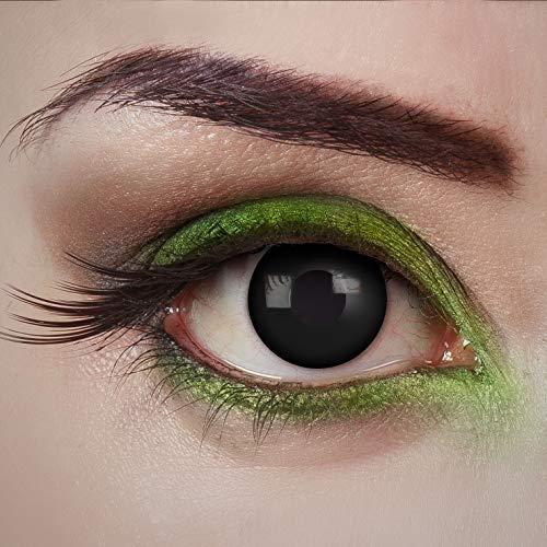 aricona Kontaktlinsen Tageslinsen - Dark Desire - Schwarze Kontaktlinsen