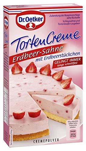 Dr. Oetker Tortencreme Erdbeer Sahne, 11er Pack