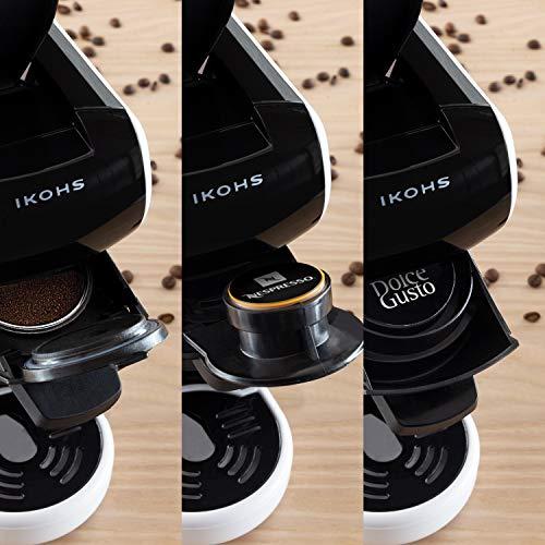 IKOHS Machine à café Expresso Italien - Cafetière Multi-dosettes Nespresso 3 en 1 Life, 1450 W,...