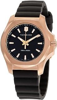 Victorinox - INOX Reloj para Mujer Analógico de Cuarzo con Brazalete de Goma V241808