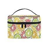 Limón fruta amarilla naranja vitamina cosmética bolsa viaje maquillaje tren casos almacenamiento organizador