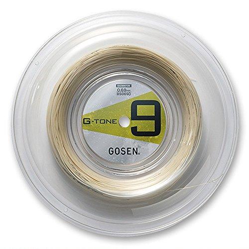 ゴーセン(GOSEN) バドミントンストリング G-TONE 9 220m ロール ナチュラル G-BS0693-NA