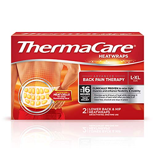 Thermacare Heat Wraps Lower Back & Hip, L-XL
