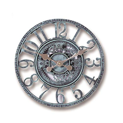 Somedays Wanduhr - Retro Vintage Wanduhr - Vintage Uhr 3D Dekorative Zahnrad für Wohnzimmer, Schlafzimmer, Kinderzimmer, Büro, Cafeteria und Restaurant,Ø 30cm
