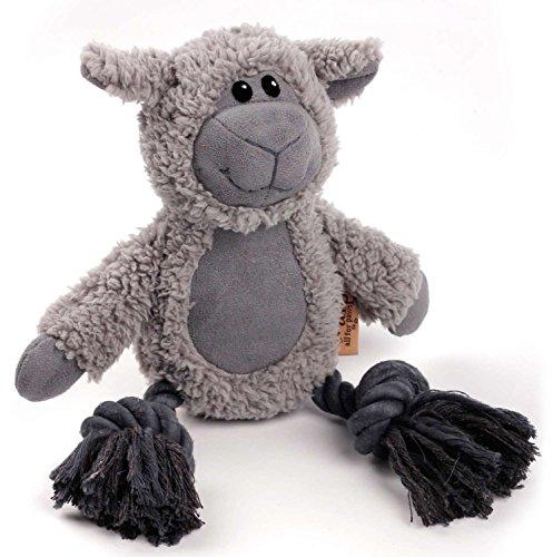 Knuffel Knoop touw – schapen hond speelgoed met kunstmatige schapenvacht en touw.