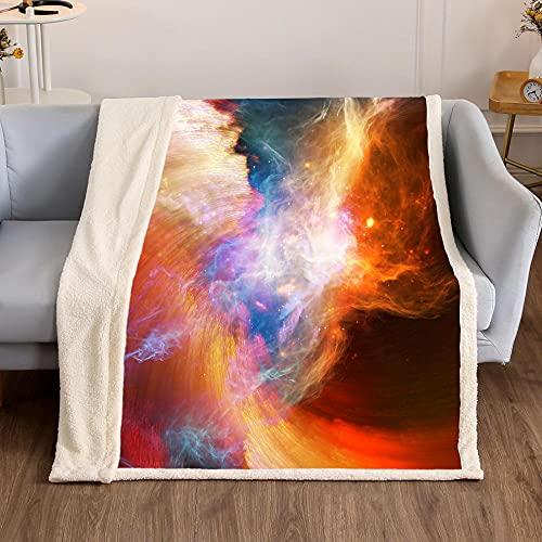 MBZHG Manta Lujo Nebulosa Cósmica Manta Lana Impresión 3D Manta Picnic Suave Y Cálida Colcha Manta Sofá Manta Adecuada para Adultos Y Niños 150 X 200cm