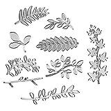 Leaf Cutting Dies Stencil Metal Template Molds, Embossing Tool Die Cuts for Card Making Album Paper Scrapbooking DIY Décor Dies Craft