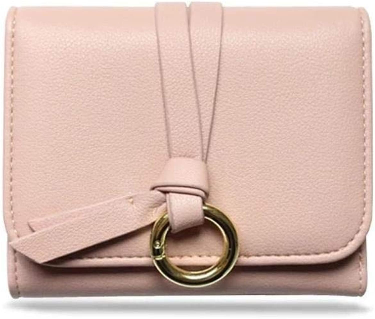 Girls Purse Women's Wallet Ladies Wallet Students Three Folding Simple Hundred Little Wallet (color   B)