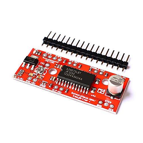 FairytaleMM A3967 EasyDriver Driver Motore Passo-Passo V44 per arduino Modulo di Sviluppo Stampante 3D Modulo A3967 (Rosso)