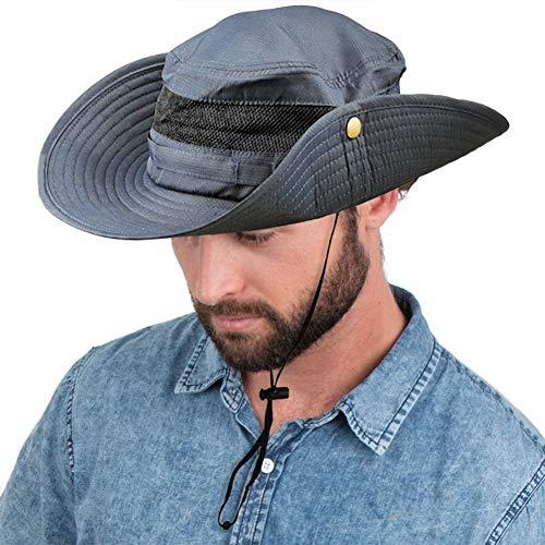 SIYWINA Hombres Sombrero de Pescador Verano Protección UV Sombreros de al Aire Libre Gorra de Verano