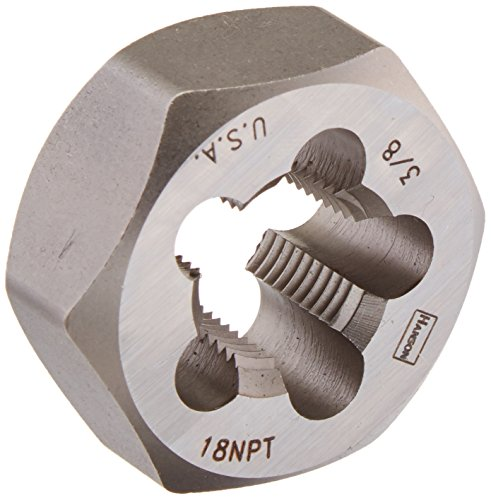 IRWIN Tools 7404 High Carbon Steel Re-Threading Hexagon Taper Pipe Dies - Die 3/8-18NPT Hrt Hanson