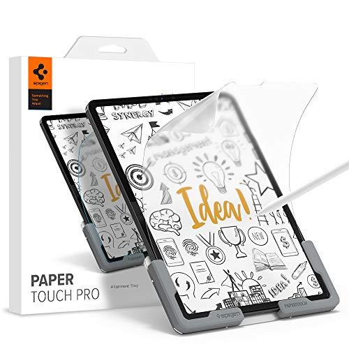 Spigen PaperTouch Pro Pellicola Protettiva compatibile con iPad Air 4 2020, iPad Pro 11 Pollici 2021, 2020, 2018, Sensazione di carta, Compatibile con Apple Pencil, Antiriflesso, Pellicola Opaca