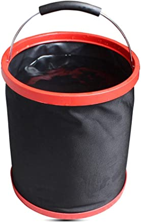 Cotangle Faltbarer Eimer 12L (3.17Gallon) zusammenklappbare Runde Kunststoffeimer, Größe 10.6 Zoll X 9.8 Zoll (Balck) B07P632SG6 | Outlet Store