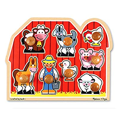 Melissa & Doug Farm Animals Jumbo Knob Wooden Puzzle from Melissa & Doug