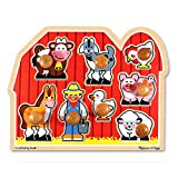 Melissa & Doug Farm Animals Jumbo Knob Wooden Puzzle