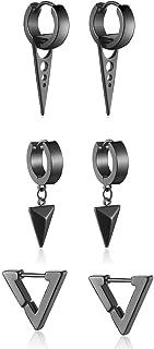 Earrings For Men Women Kpop Stainless Steel Hoop Earring Sword Dainty Thick Stud Punk Goth Jewelry Gift Sets