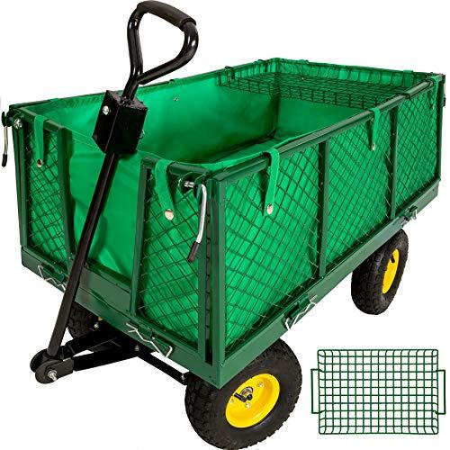 TecTake 401418 Chariot de Transport Jardin remorque à Main Charrette à Bras Chariot a Bras 550kg voiturette Voiture