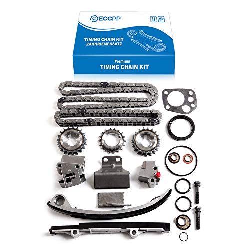ECCPP Timing Chain Kit fits for 1991-1998 Nissan 240SX Altima 2.4L 9-4180SX