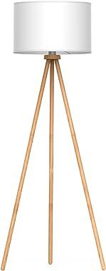 tomons Stehlampe Stativ aus Holz für das Wohnzimmer, Schlafzimmer und andere Zimmer, Skandinavischer Stil, 148 cm Höhe – FL10