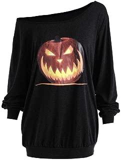 Hot Halloween Sweatshirt Women Pumpkin Print Long Sleeve Pullover Tops Shirt Casual Hoodies Tracksuit