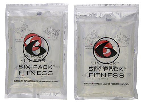 6 Pack Fitness Medium Freezer Gel Pack - Set of 2 (Clear)