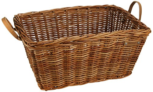Basil Portland Basket Classic Fietsmand, Varnished Natural, 46 x 34 x 23 cm