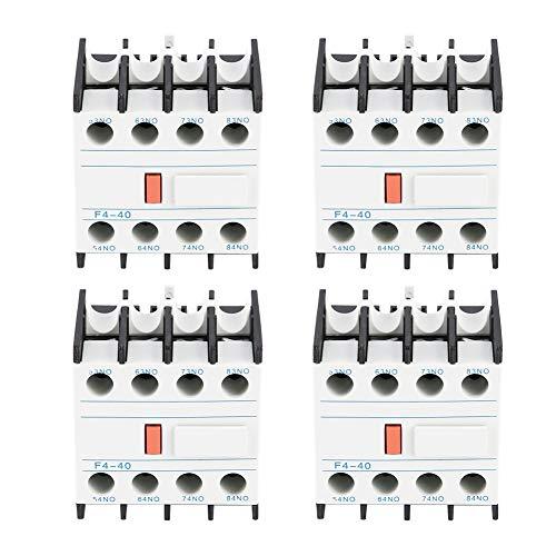 4pcs / Box f4-40 Ac Contactor auxiliar Touch Head Match Cjx2 Cjx4...